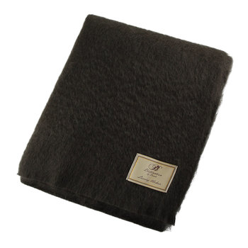 Mohair Throw - Gun Metal