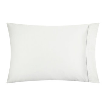 Nervures Pillow Case - 50x75cm - White and Grey