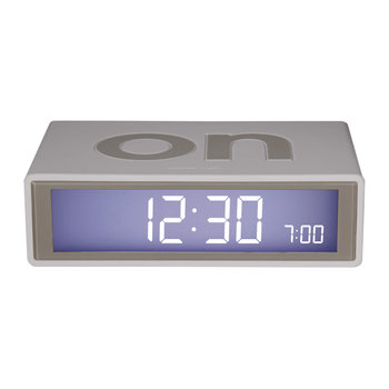Flip Coloured Clock - White