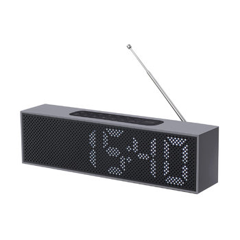 Titanium LED Clock Radio - Black