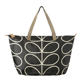 Zip Shopper - Linear Stem Print - Licorice