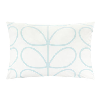 Linear Stem Pillowcase Pair - Duck Egg - 75x50cm