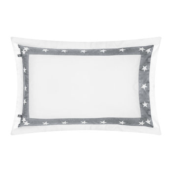 Star Border Pillowcase - Grey