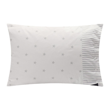 Stars and Stripes Pillowcase - 50x75cm - Light Grey