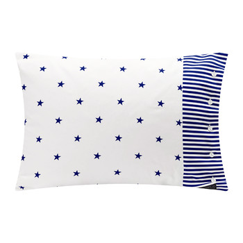 Stars and Stripes Pillowcase - 50x75cm - Persian Blue