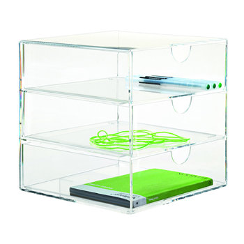Clear 3 Drawer Multi-Purpose Box