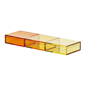 Momabox - 3 Compartment Storage Box - Assorted Yellow