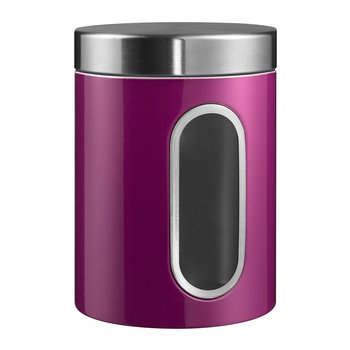 Kitchen Storage Canister with Window - Purple