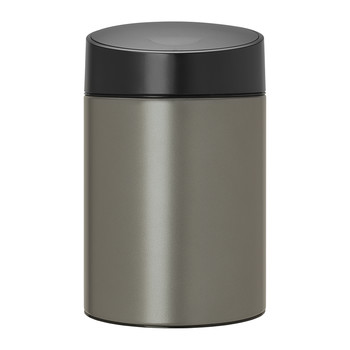 Slide Bin with Plastic Lid - 5 Litres - Platinum