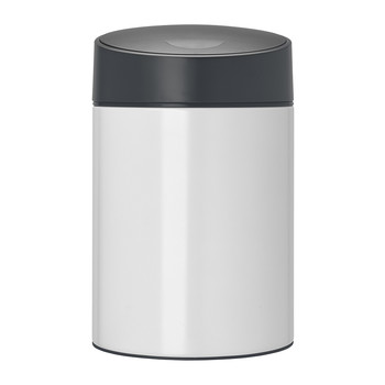 Slide Bin with Plastic Lid - 5 Litres - White