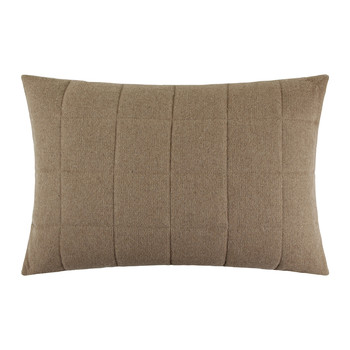 Quilted Pillow - 40x60cm - Light Brown/Gray