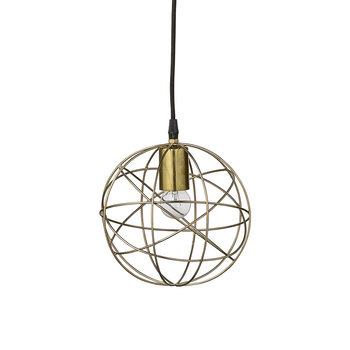 Cage Pendant Lamp - Brass