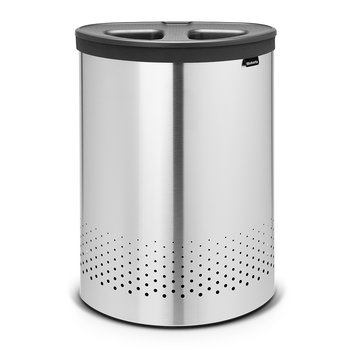 Selector Laundry Bin - 55 Litres - Matt Steel with Dark Grey Lid