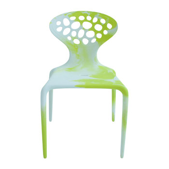 Supernatural Chair - Multicolor - White / Fluo Green