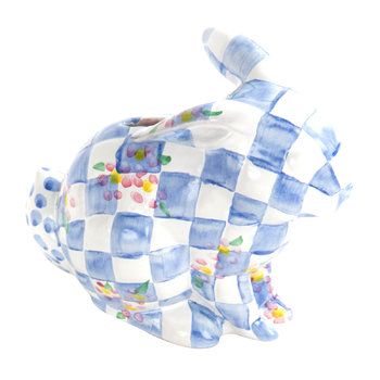 Quilted Bunny Money Box - Blue