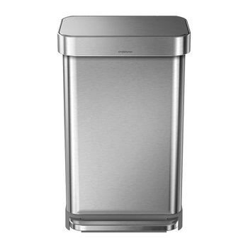 Rectangular Pedal Bin with Liner Pocket - Brushed Steel