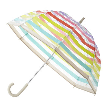 Clear Umbrella - Multi Stripe