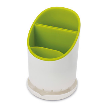 Cutlery Drainer and Organiser - White/Green
