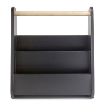 Gazette Magazine Rack - Black/Natural