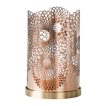 Feather Candle Holder - Copper