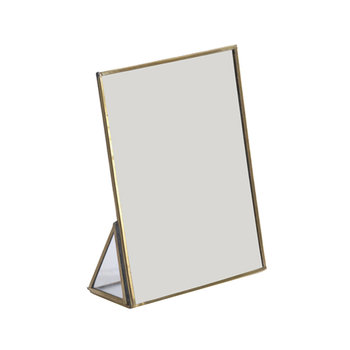 Kiko Standing Mirror - Antique Brass