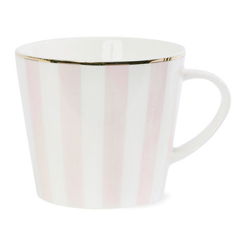 Striped Ceramic Coffee Mug - Rose