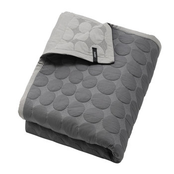 Mega Dot Bed Cover - Dark Grey