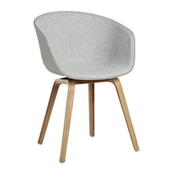 About A Chair AAC22 with Front Upholstery - Gray Shell