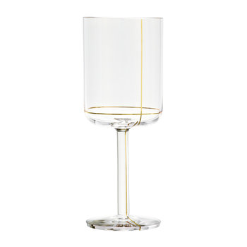 Red Wine Glass - Gold Line