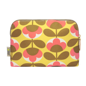 Oval Flower Cosmetic Wash Bag