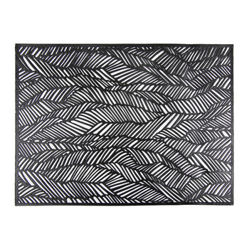 Pressed Drift Rectangle Placemat - Black