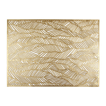 Pressed Drift Rectangle Placemat - Brass