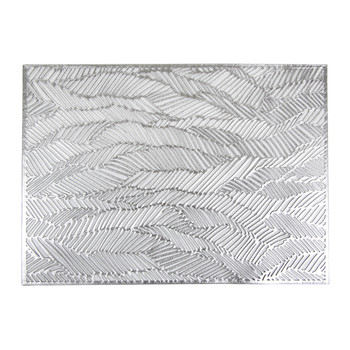 Pressed Drift Rectangle Placemat - Silver