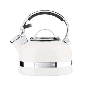 Stove Top Whistling Kettle - Almond Cream