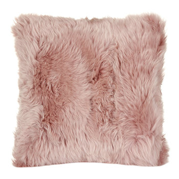 New Zealand Sheepskin Pillow - 50x50cm - Rosa
