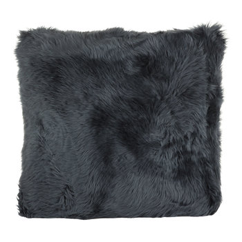 New Zealand Sheepskin Pillow - 50x50cm - Navy