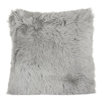 New Zealand Sheepskin Pillow - 50x50cm - Light Gray