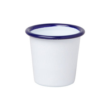 Mini Gobelet - Blanc Originel avec Bordure Bleue