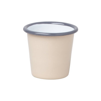 Mini Tumbler - Beige with Gray rim