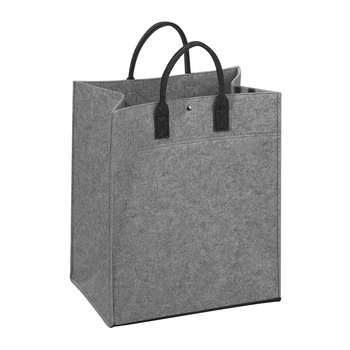 Felt Laundry Bag - Light Grey