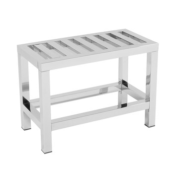Satin Stainless Steel Bench