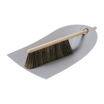 Dustpan & Broom - Light Gray