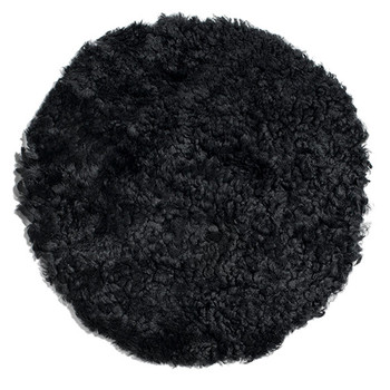 New Zealand Sheepskin Seat Pad - Short Wool Curly - Black