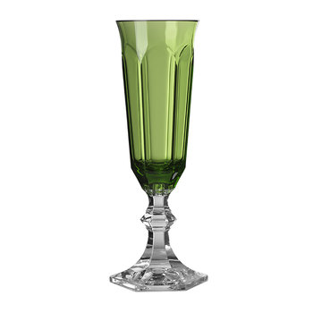 Flute Champagne Glass - Green