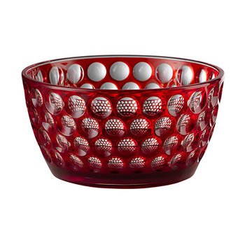 Small Lente Acrylic Bowl - Red