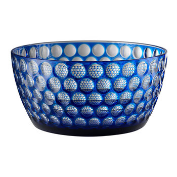 Lente Acrylic Salad Bowl - Blue