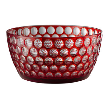 Lente Acrylic Salad Bowl - Red