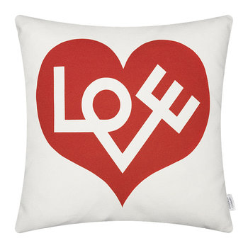 Graphic Love Kissen - 40x40cm - Rot