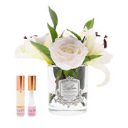 lillies-roses-in-clear-glass-ivory