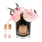 lillies-roses-in-black-glass-blush
